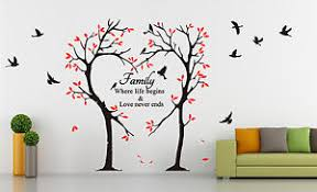 image is loading large tree love heart amp birds quotes wall  on removable wall art stickers uk with large tree love heart birds quotes wall art sticker decal uk sh185