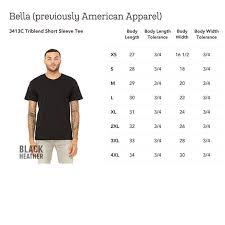 Print On Demand Bella Canvas 3413c Triblend Short Sleeve