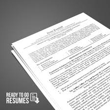 Federal Resume Ready To Go Resumes