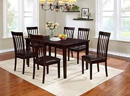 Image Unavailable Amazon.com - Mollai Collection 7 Piece Set- Cherry Dining Table 6