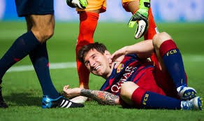 Image result for messi pic injury