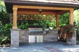 build backyard bbq area design
