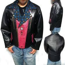 men s men s original crocodile wine alligator blue plaid original riders jacket riders jacket fake leather faux