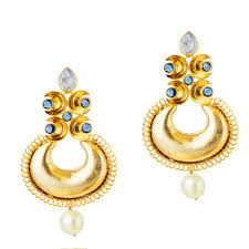indian gold earrings indian jewelry gold plated chandelier earrings chandbali earrings kundan