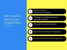 Personal Statements Templates 15 Personal Statement Examples 2019 Updated