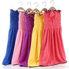 towel for kids. Magic Bath Towel Coral Fleece Lady Girls Spa Showel Body Wrap Bathrope Beach Dress Robe Wearable Skirt Waffle Towels Kids For