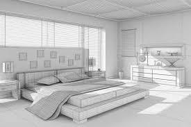 ... asian interior design bedroom 3d model max 2