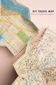 foldable map made from wrapping paper