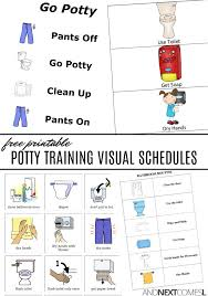 Potty Training Printables Free Potty Training Visual Schedules And Next Comes L