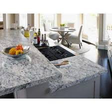 laminate countertop sample in white ice granite with artisan