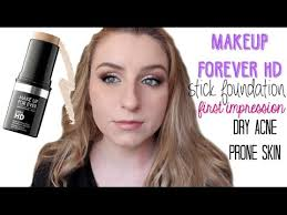 makeup forever hd stick foundation first impression dry skin