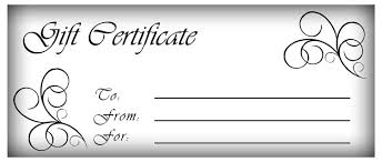 Gift Certificates To Print Free Gift Certificate Template