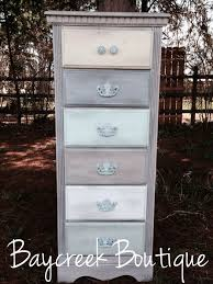 white wash dresser. Ombré Dresser. White Washed With Different Colored Drawers. Lingerie Dresser Wash