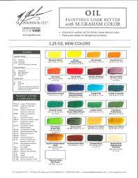 M Graham Color Chart M Graham Debuts 25 New Artists Oil Colors