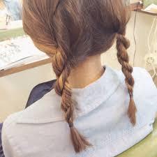 簡単にできるロープ編みヘアアレンジミディアムからロング 愛知県