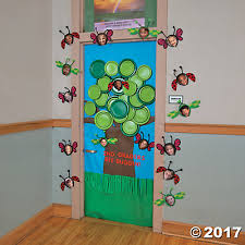 Exellent Classroom Door Decorations Spring Tree Decoration Idea G Throughout Inspiration Decorating
