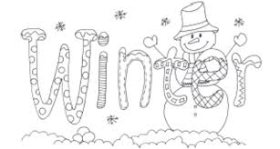 Small Picture Coloring Pages About Winter Coloring Pages