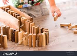 Wooden Bricks Game Game Wooden Bricks Closeup Stock Photo 100 Shutterstock 51