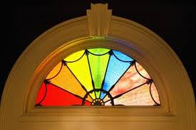 how to create a faux stained glass window