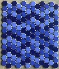 Night sky blue mix hexagonal ceramic ...