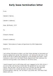 About our free rental agreement form: 26 Sample Early Lease Termination Letters In Pdf Ms Word