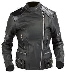 lady leather jacket old school full black