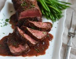 Cooking Light Seared Sliced Beef Sirloin 14 Oz Roast Beef Tenderloin With Wine Sauce