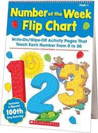 Number Flip Chart Number Of The Week Flip Chart Kama Einhorn 9780545457095