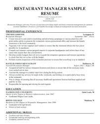 resume for restaurants restaurant manager skills resume resume shift manager restaurant
