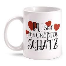 Du Bist Mein Glück Tasse Spruch Motiv Geschenk Idee Valentinstag