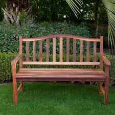 Belham Living Richmond Curved-Back 4-ft. Outdoor Wood Bench | Hayneedle