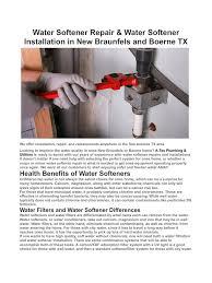 How To Repair A Water Softener Water Softener Repair New Braunfels And Boerne Tx Water Softener