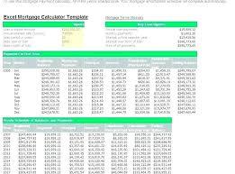 Excel Mortgage Spreadsheet Loan Amortization Spreadsheet Schedule In Excel Sheet