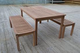 6 seater teak bench set