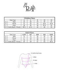 Size Chart Pari Chehrehsa