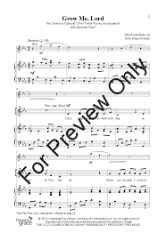 lord i need you sheet music grow me lord unison two part by ruth ela j w pepper sheet music