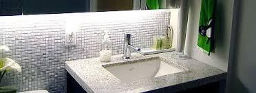 best bathroom countertops. An Under-mounted Sink, Granite Countertops And Tumbled Marble Backsplash Produce A Fabulous Designer. Bathroom Countertop Materials Best T
