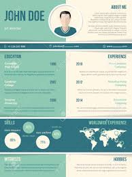 Modern Resume Cv Curriculum Vitae Template With Color Elements