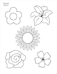 Small Paper Flower Templates Printable Flower Templates Image 0 Printable Paper Rose Template Pdf