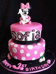 Pink And Black Minnie Mouse Decorations Pink Little Cake Pink Baby Minnie Mouse Cake