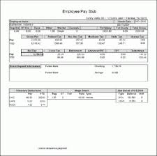 paycheck stub sample free paystub templates free pay stub designs and templates in excel xls