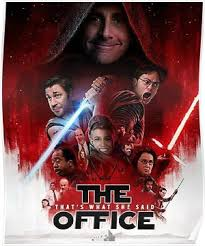 The office posters Wall The Office Star Wars Poster Etsy The Office Star Wars Poster Products Pinterest Star Wars