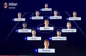 Milan-Inter, le probabili formazioni: Conte riflette ...