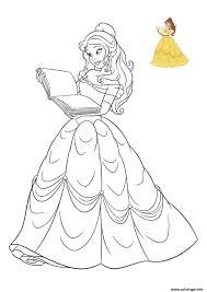 Coloriage Princesse Belle Disneyllll