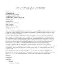 Data Analyst Cover Letter Example Data Analyst Cover Letter Sample