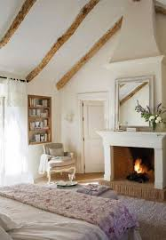 Winter Bedroom With Traditional Fireplaces