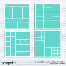 All Boxed Up Volume 2 Photoshop Templates Scrapvine