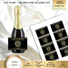 Diy Wine Bottle Labels Mystery Party Favors Wine A Mini Wine Bottles Christmas Party