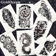 Vody Převodu Tetování Mechanické Zařízení Muži Rameno Velké