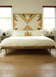 Wooden Headboards King Diy Wood Headboard With Lights Plank